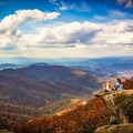 Soaking up the fall views from the Craggy Pinnacle. - Stunning Fall Adventures in the Central Appalachians