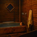 Relaxing in a private soaking room at Crystal Crane.- Oregon's Best Hot Springs