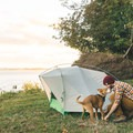 The Rose Garden on the mouth of the Columbia River Gorge in Altoona, Washington. Pup friendly! Photo by Mike Hoderman via Hipcamp.- Your Guide to Last-Minute Camping