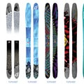 Sampling of artist topsheets.- Deviation Skis Partners With Outdoor Project
