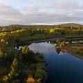 Upper Deschutes River Trail just upstream from Dillon Falls near Bend.- Oregon Fall Adventures