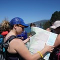 Learning how to read a map. Photo by Jessica Monroy.- Adventures with Trail Mavens