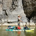 Taking the Bote HD Aero into Santa Elena Canyon in Big Bend National Park.- Gear Review: Bote HD Aero Stand-up Paddleboard