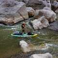 Paddling boulder-strewn rapids in Santa Elena Canyon on the Rio Grande with a fully loaded Bote HD Aero.- Gear Review: Bote HD Aero Stand-up Paddleboard