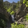 Upper Falls in Provo Canyon, just a bit west of Bridal Veil.- Wasatch Waterfalls