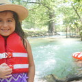 My granddaughter, Madelyn, enjoying the Sabinal River in Utopia, Texas.- Woman In The Wild: Josie Gutierrez