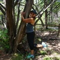 Tree hugging in Texas.- Woman In The Wild: Josie Gutierrez
