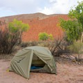 In the backcountry of Southern Utah during monsoon season.- Gear Review: Mountainsmith Vasquez Peak 2 Tent