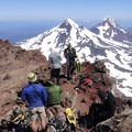Looking north at Middle and North Sister from South Sister's summit.- Head for the Hills: 6 Must Do Climbs!