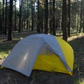 Tent with rain fly attached.- Gear Review: The North Face Fusion 2 Tent