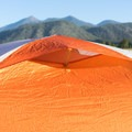 The fly has one collapsible ventilation window.- Gear Review: Big Agnes Copper Spur HV UL2 Tent