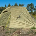 The rugged fly is ready to stand up to any weather.- Gear Review: Mountainsmith Vasquez Peak 2 Tent