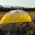 Camping in a peaceful high-elevation meadow.- Gear Review: The North Face Fusion 2 Tent