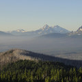 View south from Three Fingered Jack of Broken Top (9,177'), Three Sisters and Mount Washington (7,795').- Head for the Hills: 6 Must Do Climbs!