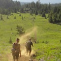 Mount Washington Wilderness: Descending down a dusty trail from Mount Washington.- National Wilderness Preservation System