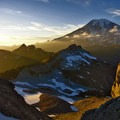 Vibrant hues continue on Mount Rainier through the sunset.- Embracing the Struggle