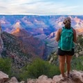 Laura on the Bright Angel Trail in Grand Canyon National Park. Photo by Shane Eubank.- Woman In The Wild: Laura Hughes