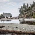 View from Ruby Beach toward Abbey Island across Cedar Creek.- Washington's 20 Best Beaches