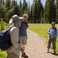 Oregon Wild's Jonathan Jelen giving the group a rundown on why the Badger Creek Wilderness is a special place.- Exploring Lookout Mountain with Oregon Wild
