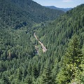 Looking out at Highway 6 and the Wilson River from the climb up Elk Mountain.- Meet the Wild Salmon Center
