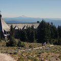 View looking south at Timberline Lodge and Mount Jefferson (10,495 ft).- Mount Hood: 5 Extraordinary Hikes