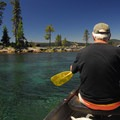Paddling near the North Campground on Waldo Lake.- 25 Mountain Lake Paddles You'll Love