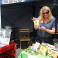 Hungry Hiker's founder Stacie Murray showing off her incredible curry dinner.- Summer Solstice Block Party - A Recap