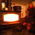 Tilly Jane A-Frame wood-fired stove.- It's Cold! Explore These 8 Winter Adventures with Warming Huts