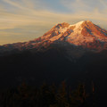 Mount Rainier sunset from Gobblers Knob lookout tower.- Mount Rainier's 7 Best Day Hikes