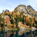Liberty Bell group over Blue Lake.- Best Hikes for Fall Colors in Washington
