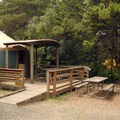 Yurt campsite at South Beach State Park.- 30 Campgrounds Perfect for West Coast Winter Camping