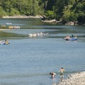 Floaters on the Snoqualmie River.- Seattle's 20 Best Beaches + Swimming Holes