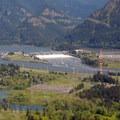 Bonneville Lock and Dam from Aldrich Butte.- Columbia River
