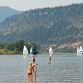 Columbia River Gorge National Scenic Area: SUPer and Sailers outside of Hood River.- National Scenic Areas