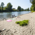 Beach at Plum Boat Launch on the Snoqualmie River.- Seattle's 20 Best Beaches + Swimming Holes