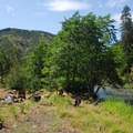 Klickitat River Campsite- Need sun?  Head to the eastern Gorge!
