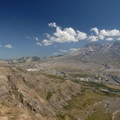 View of Mount St. Helens (8,364') from Johnston Ridge. - Then and Now: Mount St. Helens