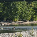 Floaters heading down the Skykomish River at Al Borlin Park in Monroe.- Seattle's 20 Best Beaches + Swimming Holes