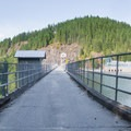 Crossing the Baker Lake Dam.- A Week on the Pacific Northwest National Scenic Trail