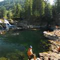 The Washougal River's Dougan Falls.- Oregon's 30 Best Swimming Holes
