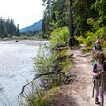 Backpacking along the Hoh River in Olympic National Park.- The Basics of Backpacking with Kids