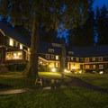 Lake Quinault Lodge at night.- 7 Great Reasons to Go Outside in the Fall, Part 7: Off-Season Lodge Rates
