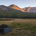 Backcountry campsite at Strawberry Lake.- Getting Lost in the Strawberries and Blues