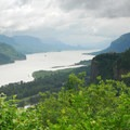 Columbia River Gorge looking east from the Portland Women's Forum Viewpoint.- Columbia River