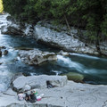 Eagle Falls swimming hole on the South Fork of the Skykomish River toward Stevens Pass.- Seattle's 20 Best Beaches + Swimming Holes