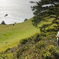 Looking down on the Pacific Ocean from Westwind's highland meadows.- OutdoorProject.org Partners with Westwind Stewardship Group