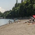 Owen Beach + promenade with Mount Rainier (14,411') in the distance.- Washington's 20 Best Beaches