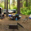 Smiling River Campground.- Camping on the Metolius River