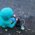 Pumping water on the Hoh River in Olympic National Park.- The Basics of Backpacking with Kids