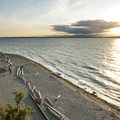 Sunset at Carkeek Park.- Seattle's 20 Best Beaches + Swimming Holes